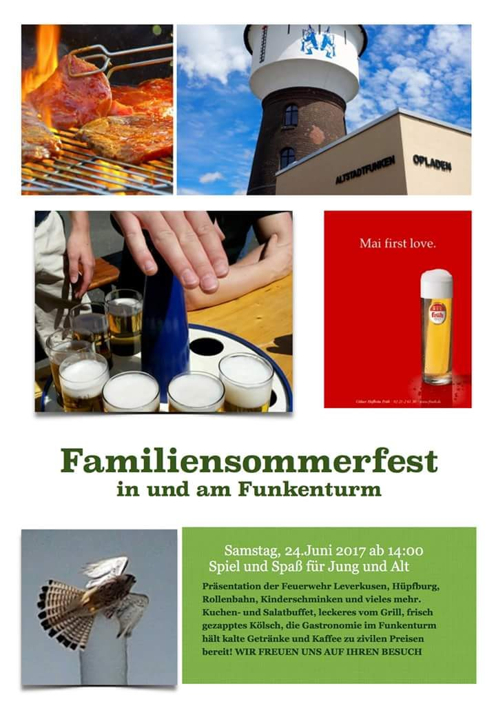 Sommerfest Altstadtfunken Plakat